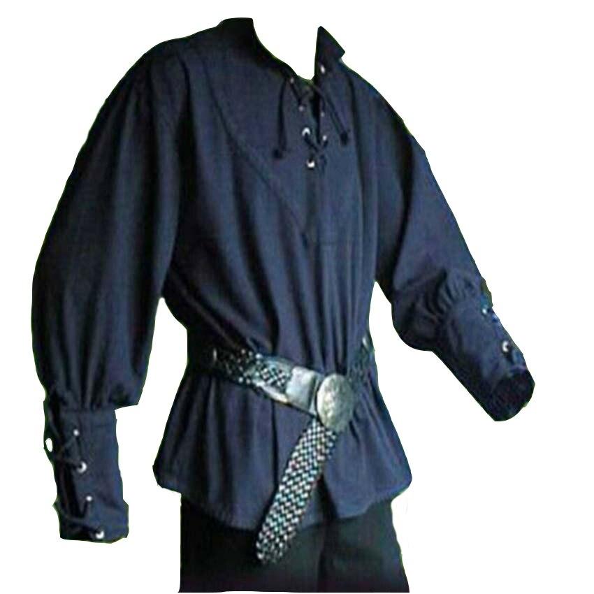Großhandel Mittelalterlichen Renaissance Männer Kleidung Stehkragen ... 98dee7f415