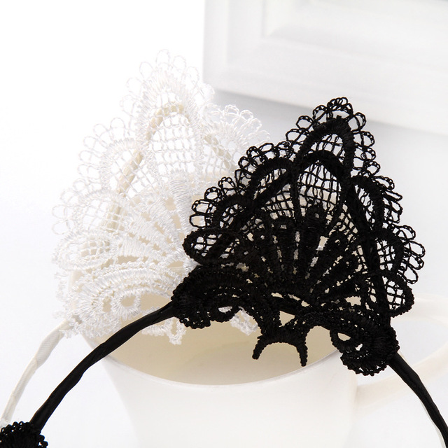 Cute Cat Ears Themed Lace Headband