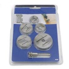 Мини Портативный 5 шт. набор пильных лезвий+ 1 шт. оправка HSS циркулярное вращающееся лезвие диски оправка для инструментов для резки древесины пила
