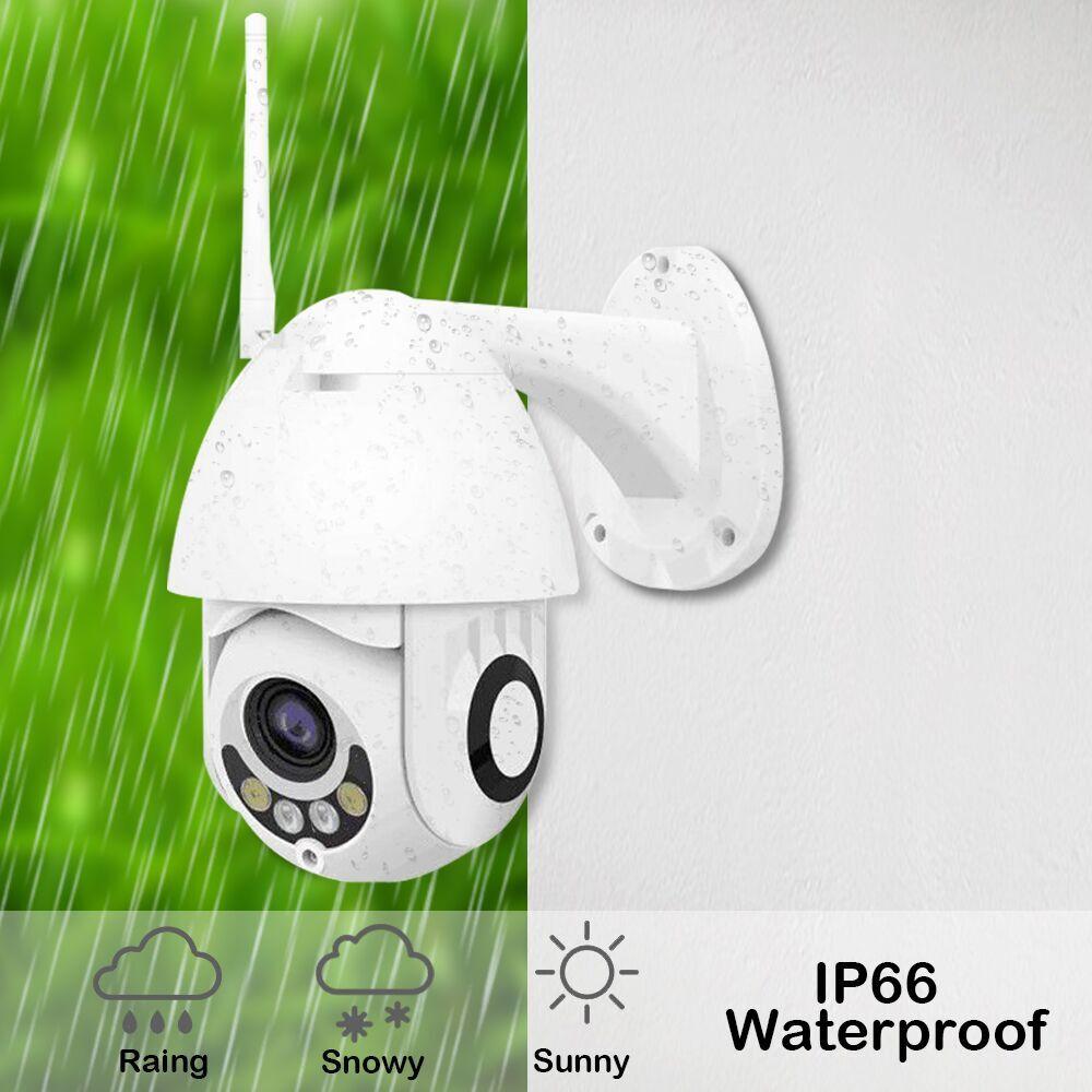 IP Camera WiFi 2MP 1080P Waterproof IR Onvif Camera Wireless PTZ Speed Dome Outdoor CCTV Security Surveillance ipCam Camara in Mini Camcorders from Consumer Electronics