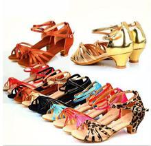 Hot Sale Square Line Dance Ballroom Latin Dance Shoes Women Girls Low Heel Salsa Shoes Cheap Salsa Dance Shoes For Women
