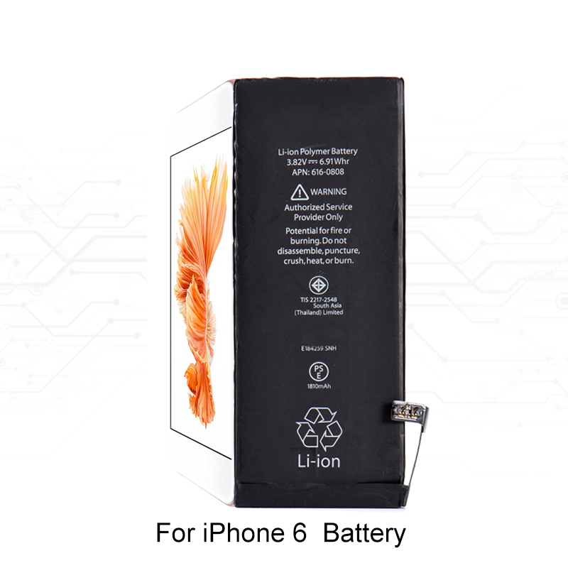 Built-in Li-ion Battery for iPhone 6 3.82V 1810MAH Mobile Phone Internal Replacement Lithium Battery
