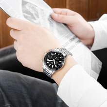 GUANQIN 2017 Watch Men Top Brand Luxury Business Stainless Steel Quartz-Watch Men Sport Waterproof Clock Wrist Watches