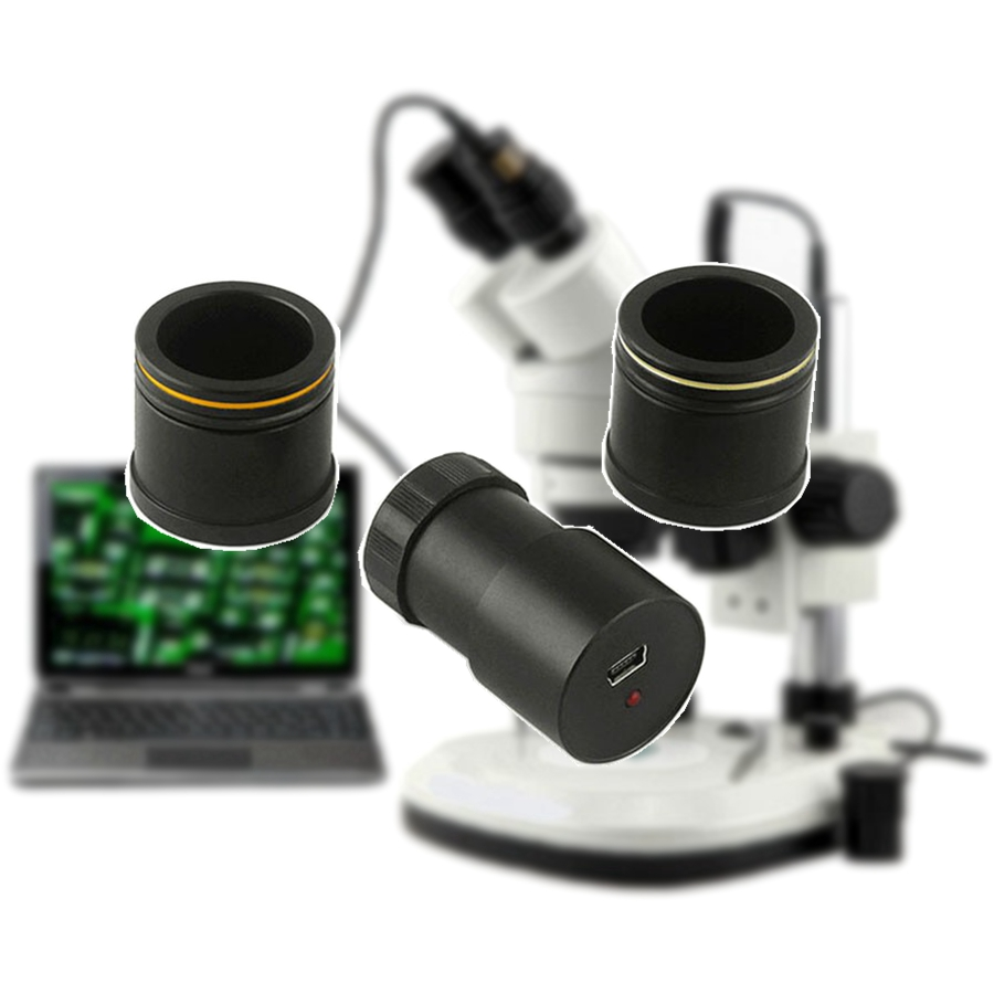 2 0MP HD USB Electronic Digital Microscope Eyepiece Camera CMOS with Adapter Ring for Stereo Microscope
