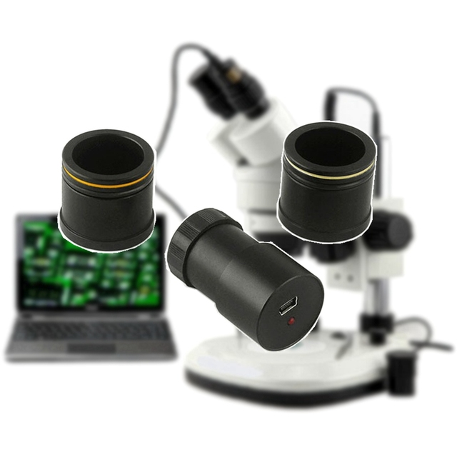 2.0mp HD USB Электронная Цифровые микроскопы окуляра Камера CMOS с переходное кольцо для стерео микроскоп