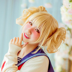 Image 2 - DIOCOS Boku no My Hero Academia Himiko Toga Cosplay Wig Mask Cosplay Props Accessories for Halloween Party