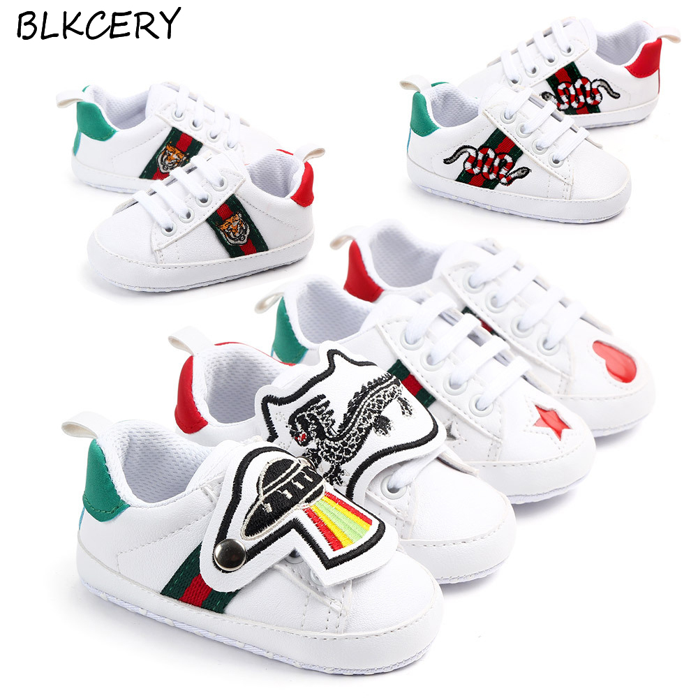 Infant Sneakers Us 3 35 44 Off Baby Sneakers Boy Shoes For Girl Unisex Fashion Brand Infant Crib Shoes Newborn Footwear Toddler Leather Moccasin For 1 Year Old In