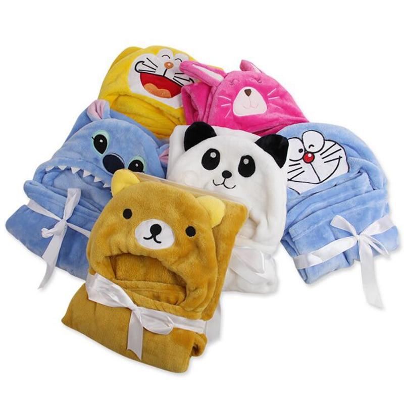 Tidig sommar Tunna Flannel Fleece Barndukar Tecknade Djur 15 Färger Nyfödda Sängkläder Mjukt Täckduk Swaddle Handduk Warp