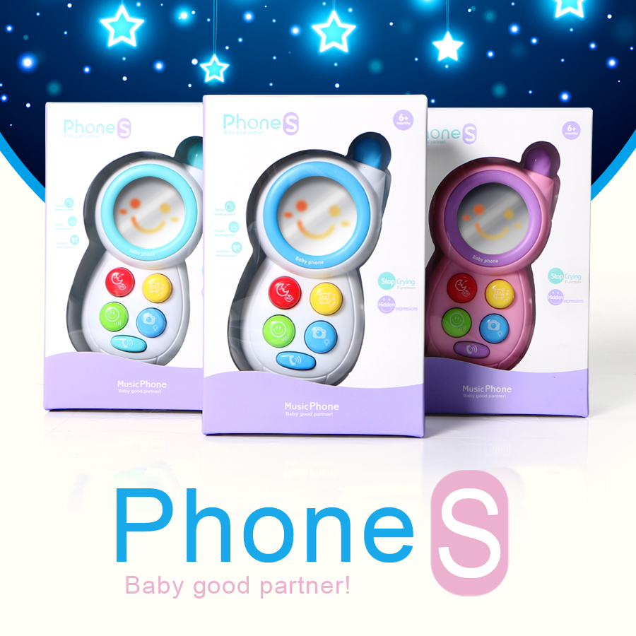 Baby musical phone stop crying function and animal midi Hypnosis toy mobile phone,electronic educational smart Telephone toy