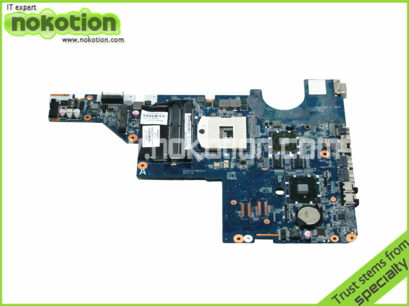 DAOAX1MB6F0 595183-001 Laptop motherboard For Hp Compaq G62 CQ62 Intel hm55 ddr3 With ATI Graphics 615578-001 DA0AX1MB6H0 nokotion 416903 001 laptop motherboard for hp compaq nx8220 nc8230 series intel 915pm with graphics card ati 9800 ddr2