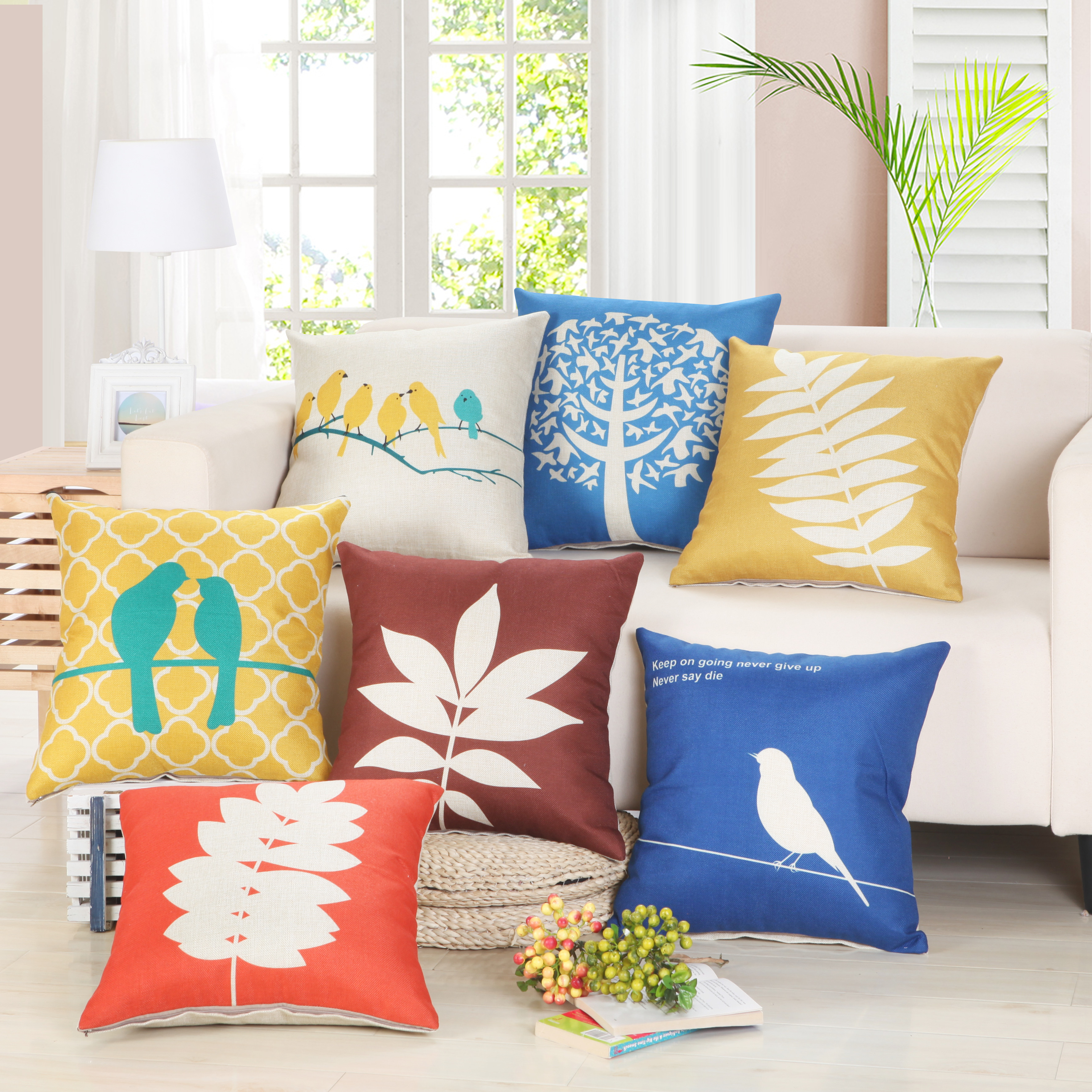 Decorative Pillows Without Covers : European Cushion Cover Without Stuff Polyster Home Decorative Throw Pillows Cases Sofa Car Seat ...