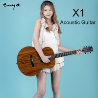 Enya Acoustic Guitar 36 41 with EQ HPL 6 Strings travel guitarra Beginner with Pick, Tuner, Strap, Capo,Musical Instruments
