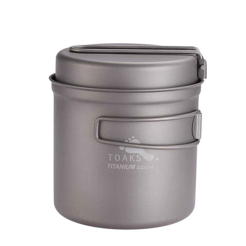 TOAKS 1100 ml Batterie De Cuisine Ultra-Léger Titane Pot Poêle Camping En Plein Air Titane Bowl Titane Tasse Pique-Nique