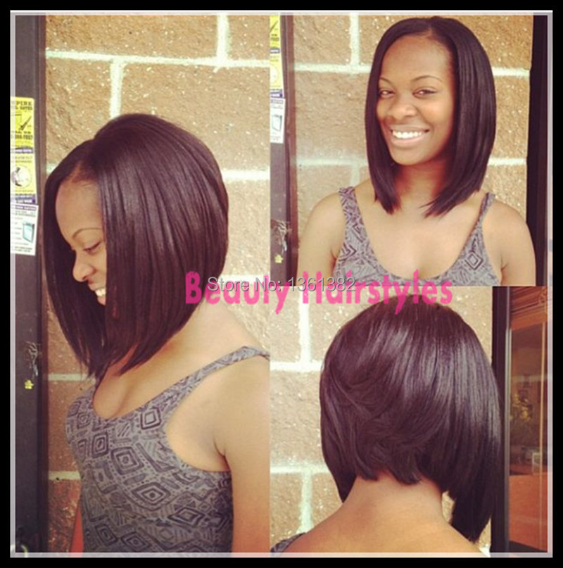 New Bob haircut !bob u part wig 100%human hair wig virgin Brazilian u part  wig bob human hair wig natural color for black women-in Human Hair Lace  Wigs from ... dc6b5589a1