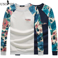 Plus Size 4XL 5XL 2016 New Autumn Men's Hoodies Floral Print Sportswear Slim Hoody Sweatshirt Sudaderas Hombre Asian Size Z2653