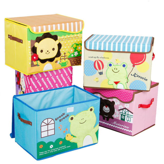 Bon Waterproof Folable Oxford Fabric Cartoon Toy Storage Box Home Storage Case