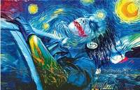 Print Canvas No Frame Starry Night Joker Abstract Oil Painting Printing On Waterproof Canvas Modern Comics