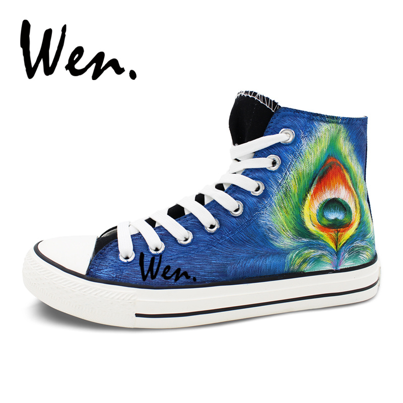 Customized Peacock New Sneaker Canvas Kids Shoes