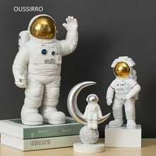 OUSSIRRO Originality Astronaut Resin Crafts Pendulum Figurines Decoration Wedding Lovers Gift W3062