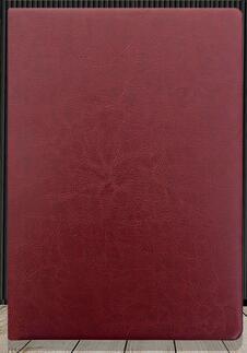 Кожаная обложка бизнес тетрадь для студентов дневник тетрадь A5/A6/B5 сшитая Мягкая обложка - Цвет: Wine Red