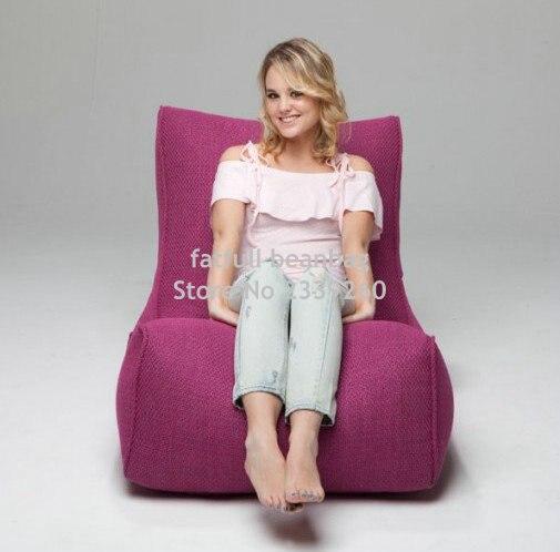 COBRIR APENAS, nenhum enchimento-rosa cadeira do saco de feijão ao ar livre, beanbag assento do sofá à prova d' água, sala de estar mobiliário set
