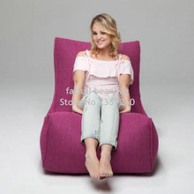 Chair COVER Furniture-Set Bean-Bag Sofa-Seat Living-Room Outdoor ONLY No-Filler-Pink