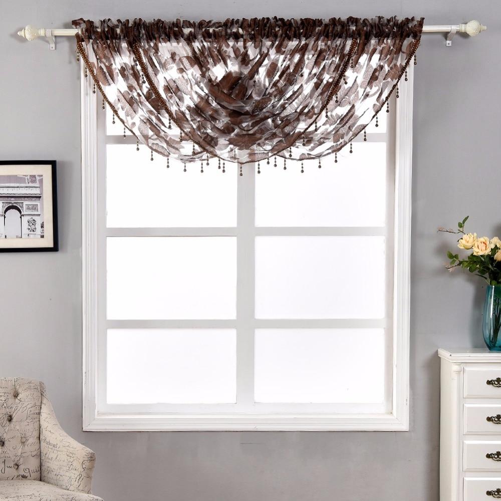 Curtains, Drapes & Valances Window Treatments & Hardware Napearl 1 Panel Decorative Waterful Pastoral Valance Window Floral Beads Pelmet