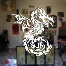 Creative Design Dragon Wings Wall Sticker Vinyl Art Home Decor Room Animal Window Mural Removable Tattoo Shop Door A159