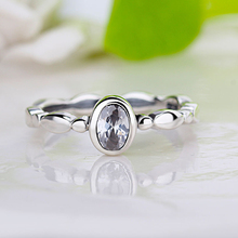 HOMOD Elegant Oval Glass Brand Rings Poetic Droplet Clear CZ Finger Ring for Women Fashion Wedding Jewelry Dropshipping