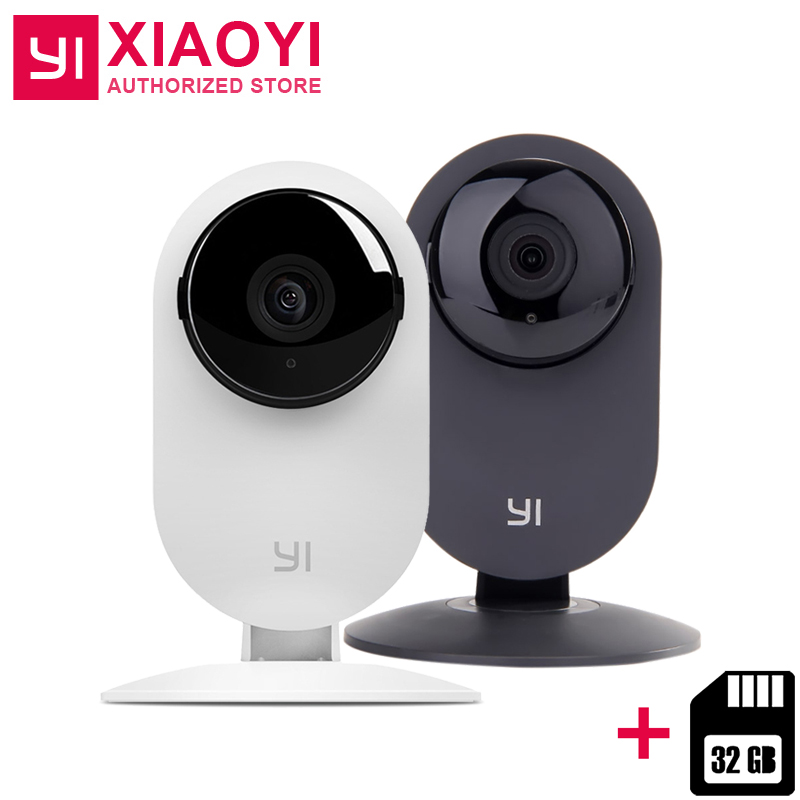 "[Édition internationale] Xiaoyi YI Maison Caméra HD 720 p + 32 gb Carte IP Caméra 110 ""Large angle Deux-way Audio Alerte Intelligent Webcam"