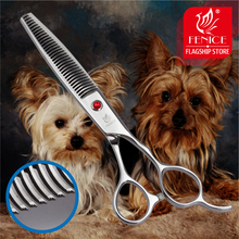 Professional Japan 440c 6.5 inch pet dog grooming thinning scissors toothed blade shears thinning rate about 35%
