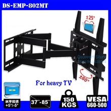 New Arival heavy duty LED LCD TV Wall Mount Full Motion 6 Swing Arms 37-85 loading 150 kgs