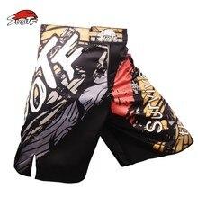 SUOTF MMA boxing movement cotton loose geometric pattern size training fitness Boxing Shorts muay thai clothing thai boxing mma