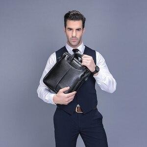 Image 2 - Vormor marca de couro do plutônio dos homens sacos moda masculina mensageiro sacos pequeno homem maleta casual crossbody bolsa ombro