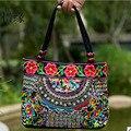 XIYUAN MARCA moda y Casual versátil lona de nylon pequeño estilo nacional del bordado de la vendimia bolsa de hombro de las mujeres