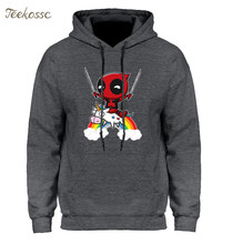 Deadpool Hoodie Men Deal Pool Funny Hoodies Mens 2018 Winter Autumn Super Hero Hooded Sweatshirt Grey Hip Hop Streetwear(China)