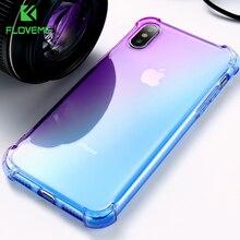 FLOVEME Case For iPhone X 10 8 Plus Anti-knock Transparent Clear Ultra Soft TPU Cover 6 6S 7 Capinhas
