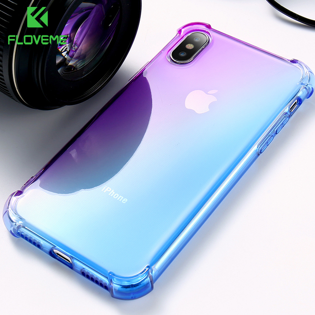 newest 15267 18827 US $1.99 40% OFF|FLOVEME Case For iPhone X 10 8 8 Plus Anti knock  Transparent Clear Ultra Soft TPU Silicone Cover For iPhone 6 6S 7 Plus Case  Bag-in ...