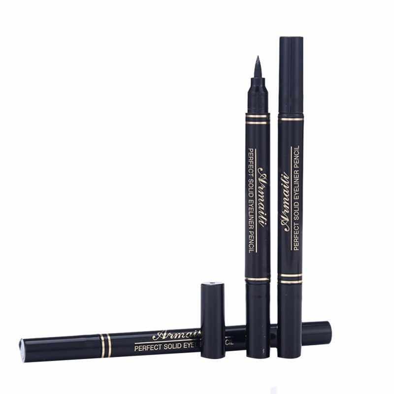 1 Buah 8G Mark Kepala Segel Pen Eyeliner Cair Bergaya Hitam Super Menguatkan Hati Kartu Cap POINT Tato untuk Make Up