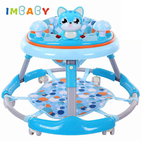 IMBABY Baby Walkers Multifunctional Car Toddler Trolley Sit to Stand Walker for Kid's Learning Baby Wallker Balance Andador