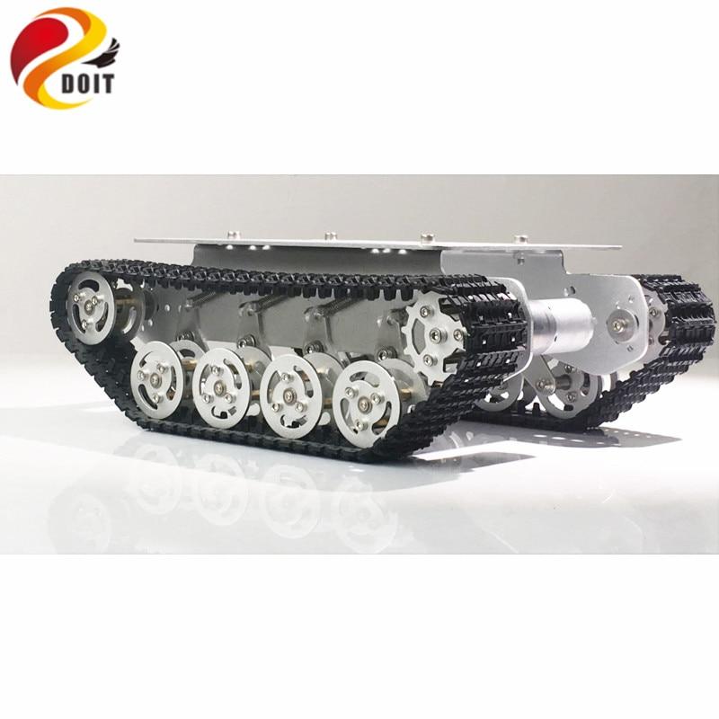 DOIT TS100 Métal Rc Robot Réservoir Châssis De la Voiture Absorption Des Chocs De Voiture Avec Système de Suspension Sur Chenilles Caterpillar pour Arduino BRICOLAGE Jouet