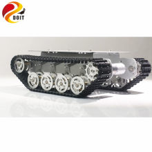 DOIT TS100 Metal Rc Robot Tank Car Chassis Shock Absorption Car With Suspension System Crawler Caterpillar for Arduino DIY Toy(China)