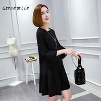 2018 weiblichen Plus Größe Kleid Aline Kleid Mode Frauen Kleidung Frauen Nähen Kleid XL-5XL Korea Stil Elegante A022