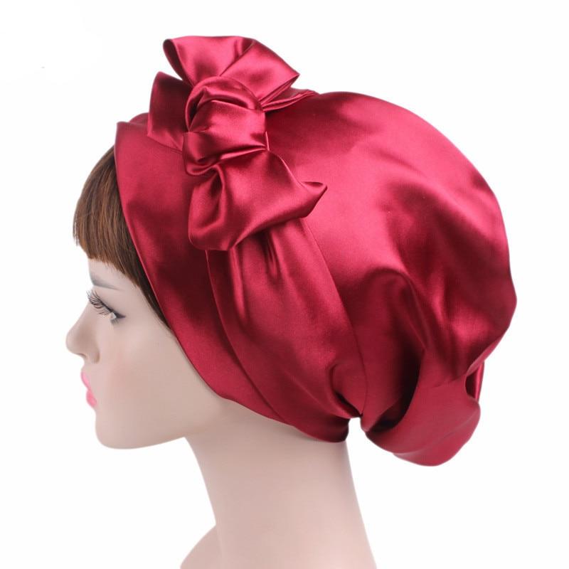 2019 Women Retro Bowknot Bonnet Fashion Lady Elegant Floral Printed   Skullies     Beanies   Chemo Girl Hat Sleep Cap Turban