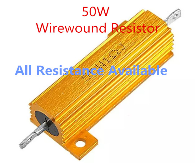 9PCS 50W 1R 2R 3R 4R 5R 6R 8R 10R 15R 20R Aluminium Power Metal Shell Fall Draht widerstand 1 2 3 4 5 6 8 10 15 <font><b>20</b></font> <font><b>ohm</b></font> 50W image
