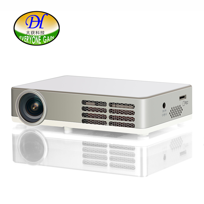 Everyone Gain 3D WIFI Mini Portable Projector TV DLP 1080P Android Bluetooth Proyector Built in Hifi Speaker Beamer DH-A300W everyone gain blu ray 3d smart android projector wifi bt dlp tv led home theater proyector with touch button dh a70 beamer