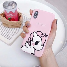 Fashion 3D Cartoon unicorn soft Silicone Phone Case For iphone X XR XS Max 6 6S 7 8 Plus Back Cover