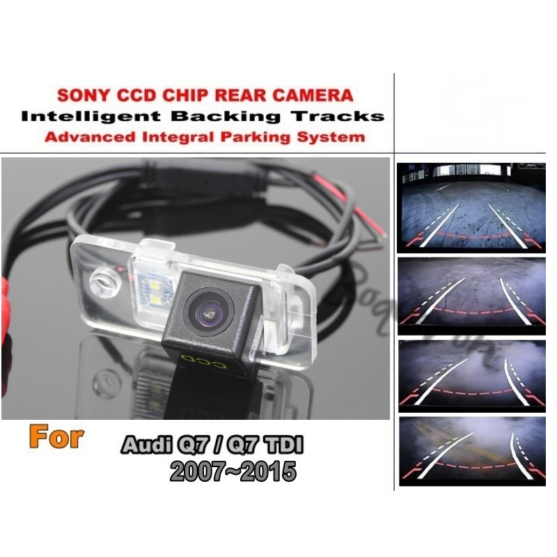 For Audi Q7 Q 7 TDI 2007 ~ 2015 Car Intelligent Parking Tracks Camera / HD CCD Back up Reverse Camera / Rear View Camera for dacia duster 2010 2014 car intelligent parking tracks camera hd back up reverse camera rear view camera