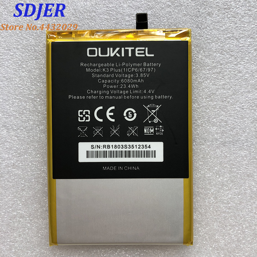 Mobile Phone Batteries Fast Deliver 100% New Oukitel K3 Plus Replacement 6068mah Parts Backup Battery For Oukitel K3 Plus Smart Phone Regular Tea Drinking Improves Your Health