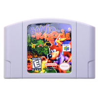 N64Game Banjo-Kazooie Video Game Cartridge Console Card English Language US Version (Can Save)